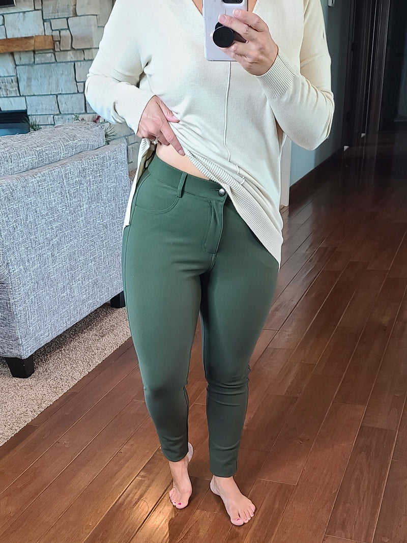 Perfect Work Pants - Olive