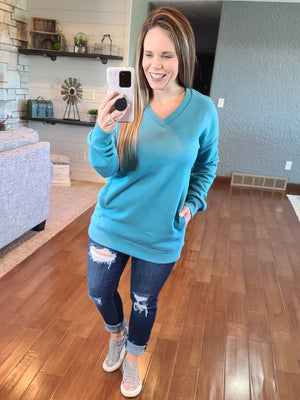 Lazy Days Sweatshirt - Teal