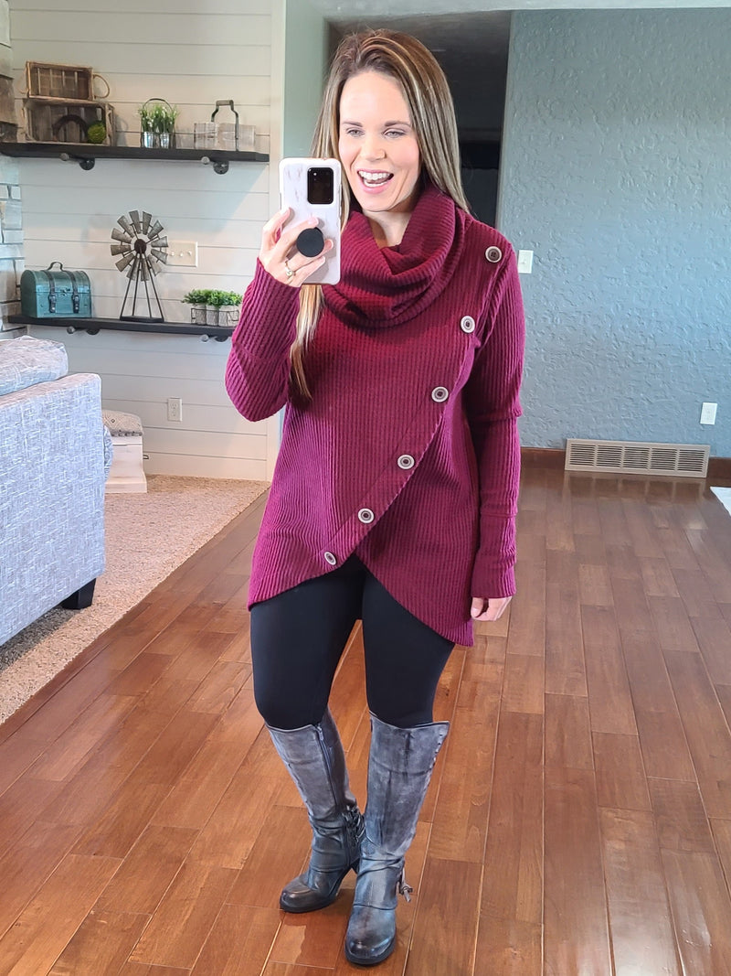 Sunday Afternoon Thermal Top - Burgundy