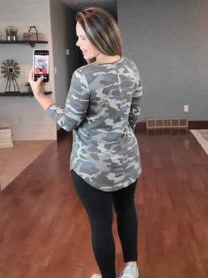 Missing You Camo Top