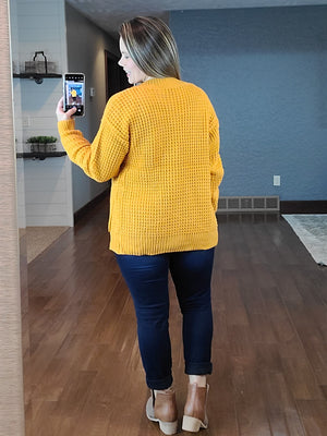 Cozy As Can Be Sweater - Mustard