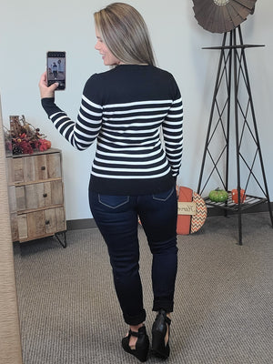 Perfect Stripe Sweater - Black