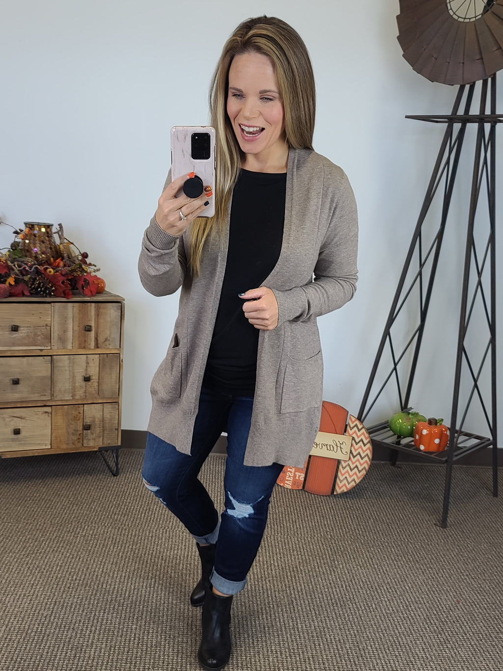 Wrapped Up In Love Cardigan - Mocha