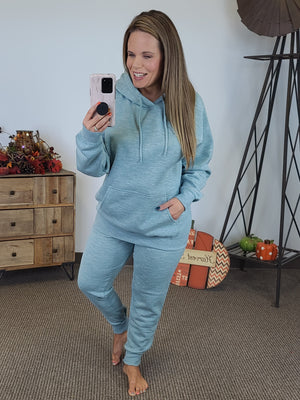 Cozy By The Fire Hoodie - Teal