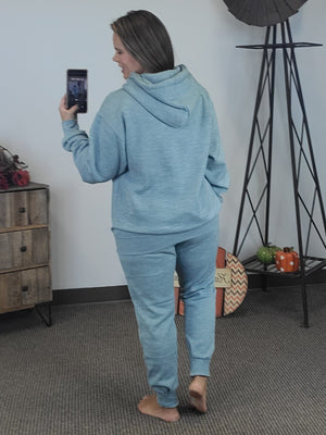 Cozy By The Fire Joggers - Teal