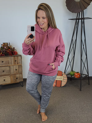 Cozy By The Fire Hoodie - Mauve