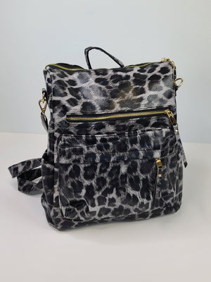 The Bailey Backpack Purse - Leopard