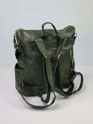 The Bailey Backpack Purse - Olive