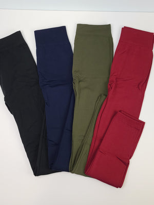 Fleece Leggings - Multiple Colors
