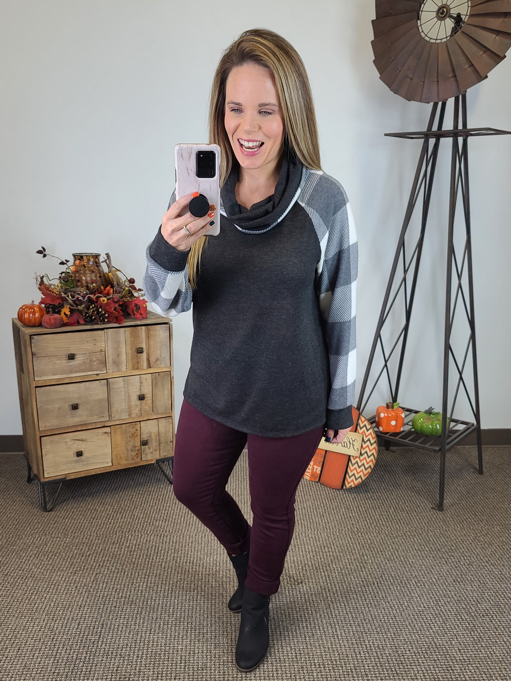 Cozy Winter Night Top