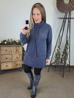Love At First Sight Tunic - Navy
