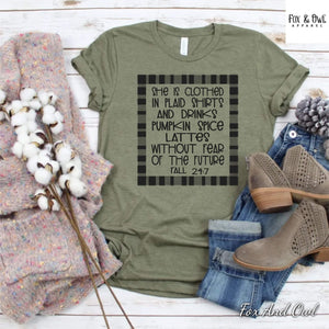 Clothed In Plaid Graphic Tee