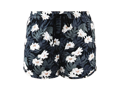 Staycation Shorts - Floral Black
