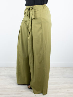 Time For Church Palazzo Pants - Olive