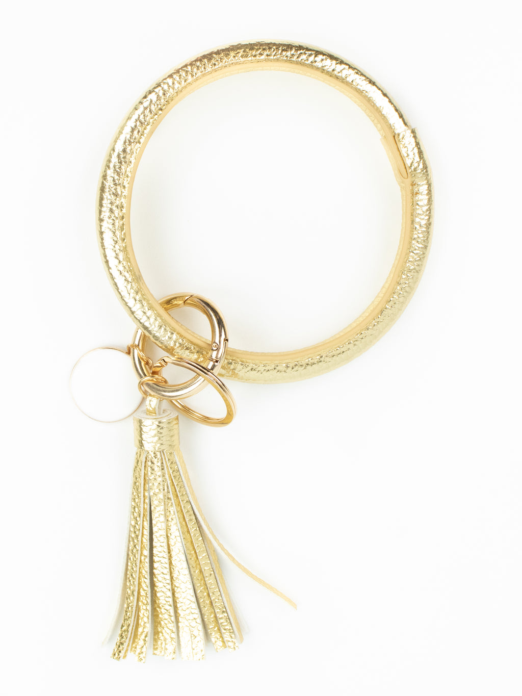 Bangle Bracelet Key Ring - Gold Metallic
