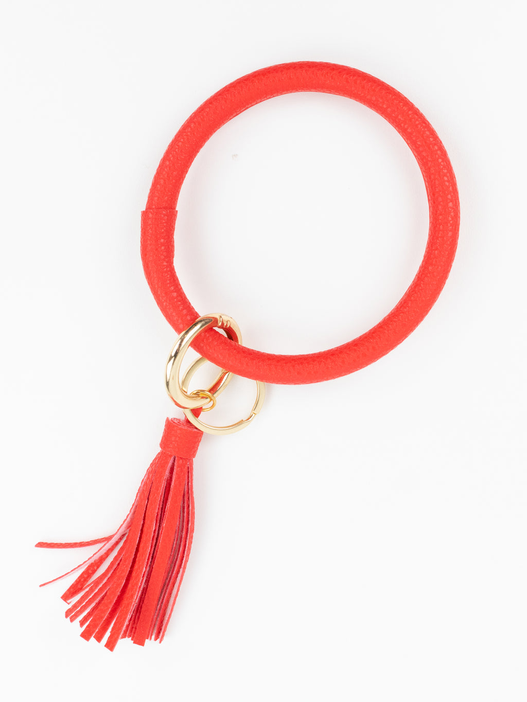 Bangle Bracelet Key Ring - Red