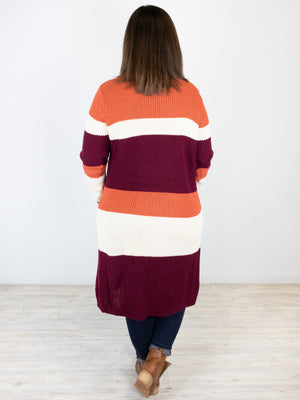 Just Relax Cardigan - Burgundy