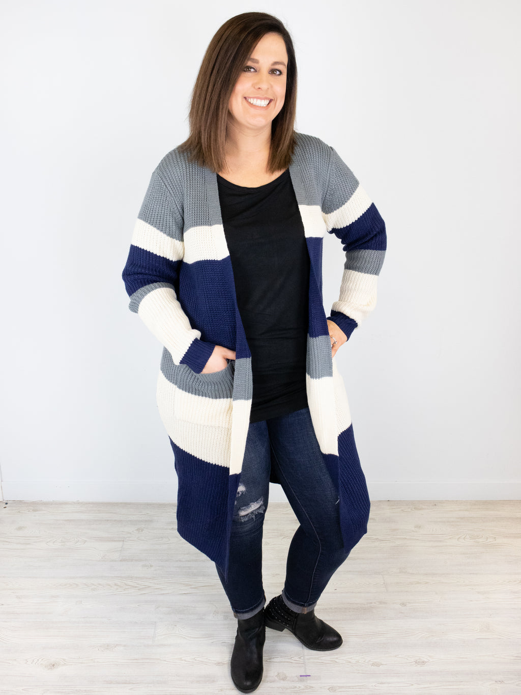 Just Relax Cardigan - Navy
