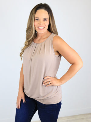 Dress Me Up Top - Ash Mocha