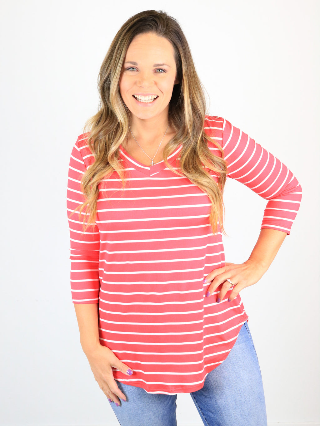 Be Vibrant Striped Top
