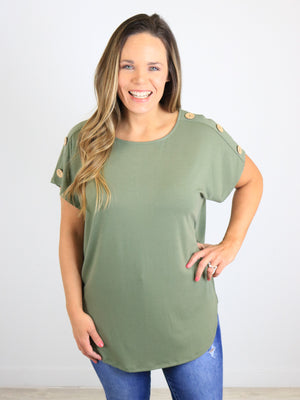 Day To Night Top - Lt. Olive