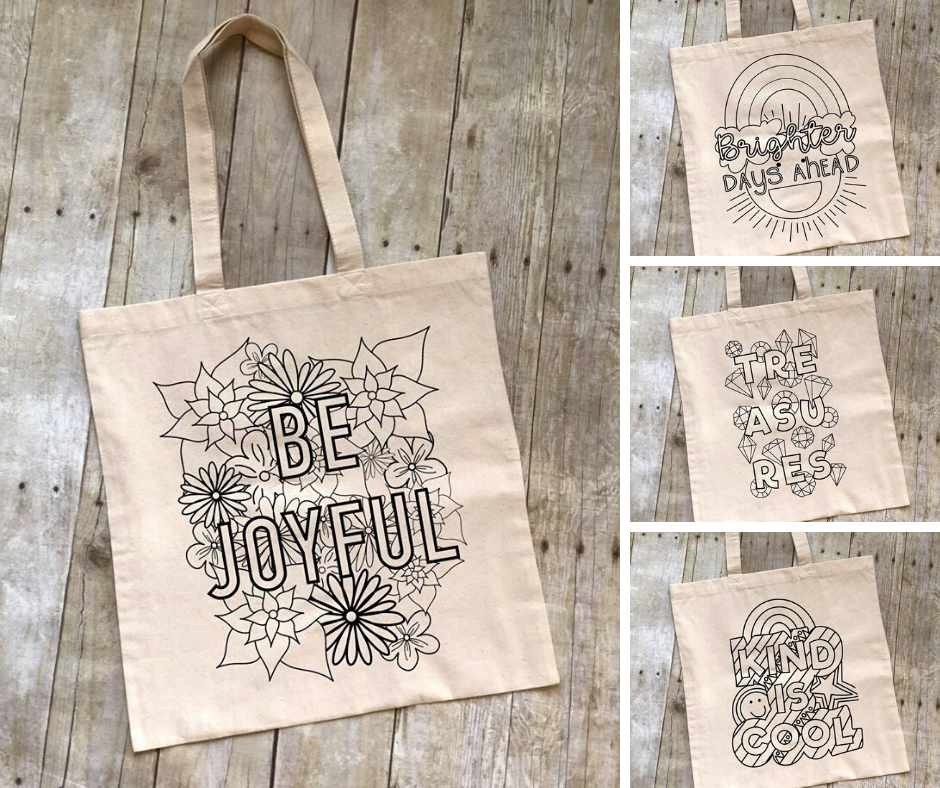 Color Your Own Canvas Tote