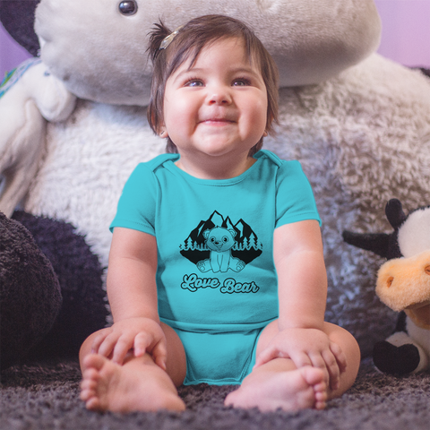 Organic Short Sleeve Bodysuit - Bear Adventure