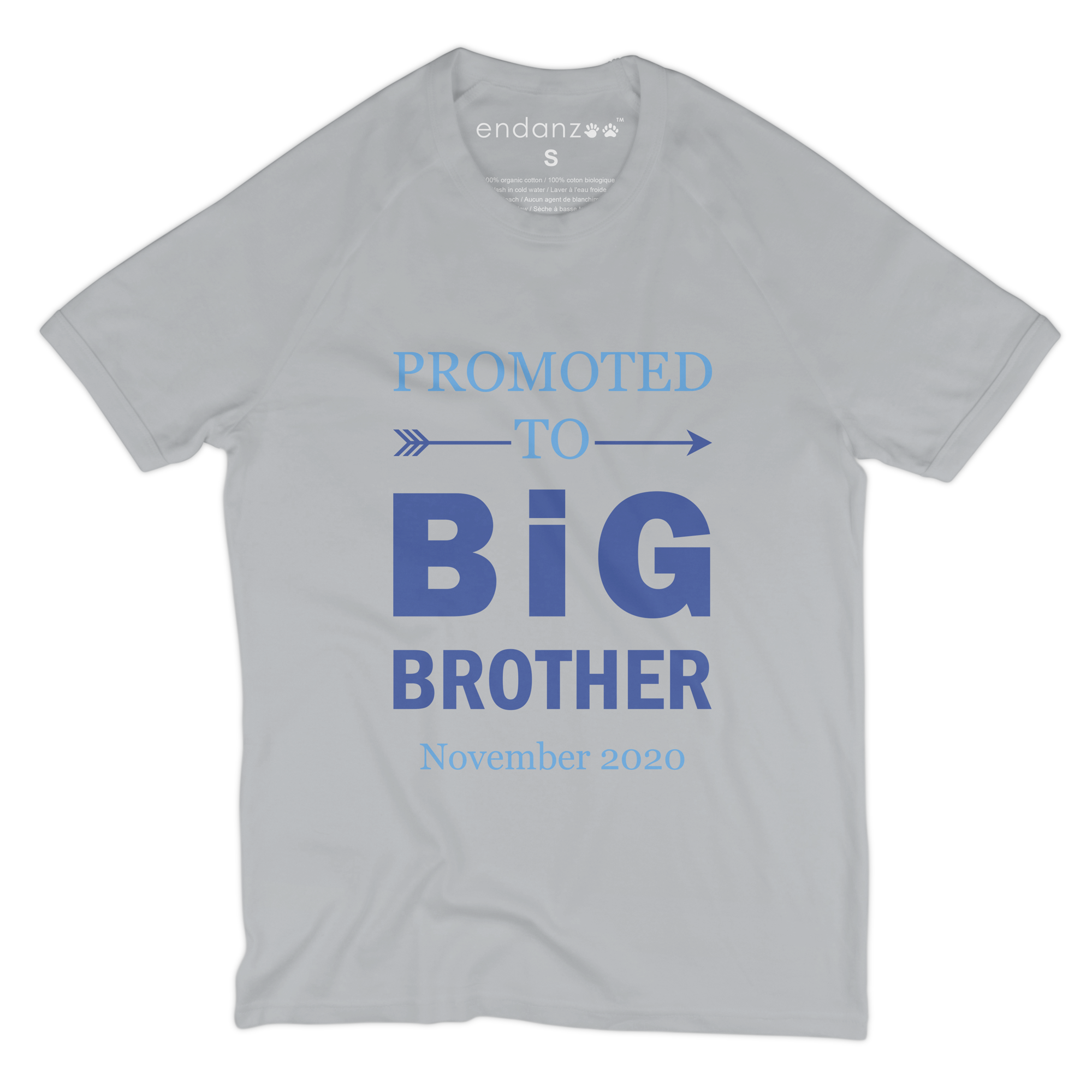 [Personalized] Promoted To Big Brother Organic Kids Tee Shirt