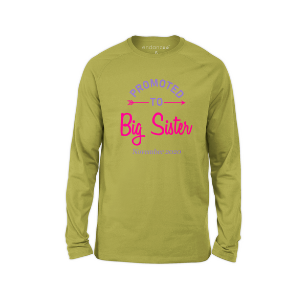 [Personalized] Promoted To Big Sister Organic Kids Tee Shirt