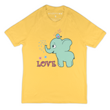 Organic Short Sleeve Kids Tee Shirt - Emma & Her Best Friend (Yellow)