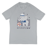 Organic Short Sleeve Kids Tee Shirt - Navy Elephant