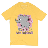 Elephant With Lilac Flowers Organic T-Shirt - Women