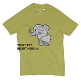 Personalized Organic Short Sleeve Kids Tee Shirt - Camo Emma (Green)