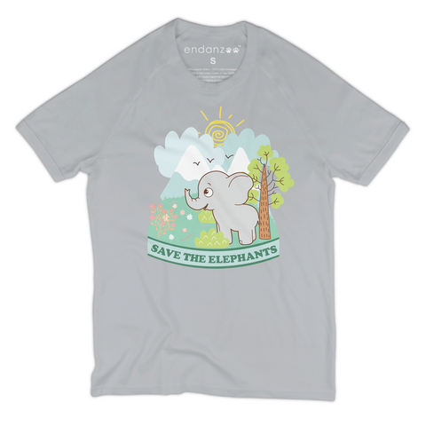 Organic Short Sleeve Kids Tee Shirt - Elephant In A Wonderful World