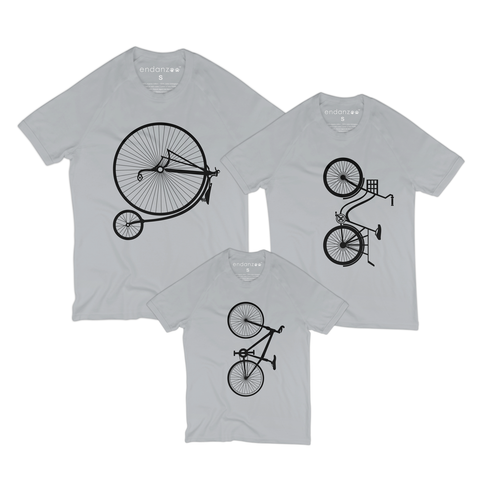 Matching Family Organic Tee Shirts - The Bicycle Family