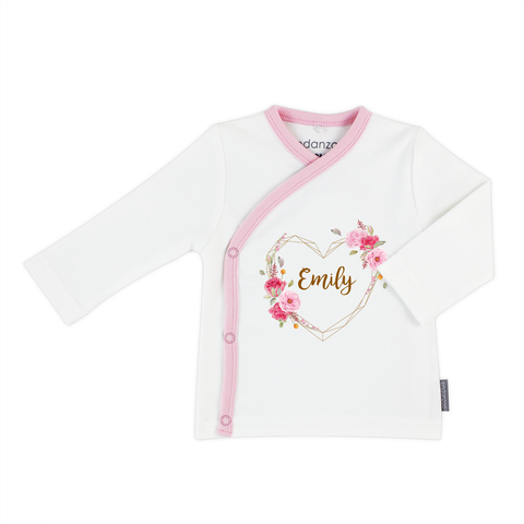 [Personalized] Home Coming Baby Girl Organic Kimono Shirt
