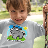 Organic Short Sleeve Kids Tee Shirt - Ray In A Wonderful World (Grey)