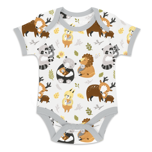 Endanzoo Organic Short Sleeve Onesie - Safari Hugs