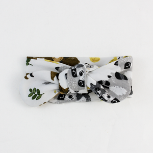Endanzoo Organic Cotton Baby Headband - Safari Hugs