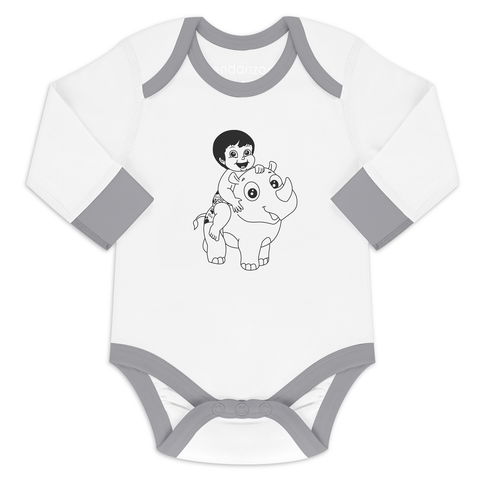Organic Long Sleeve Onesie - Jen & Ray