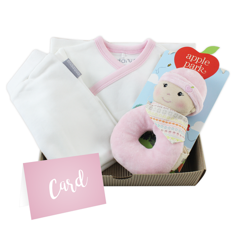 Personalized Organic Gift Box For Newborn Baby Girl