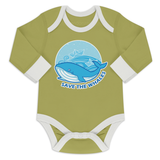 Organic Long Sleeve Bodysuit - Save The Whales