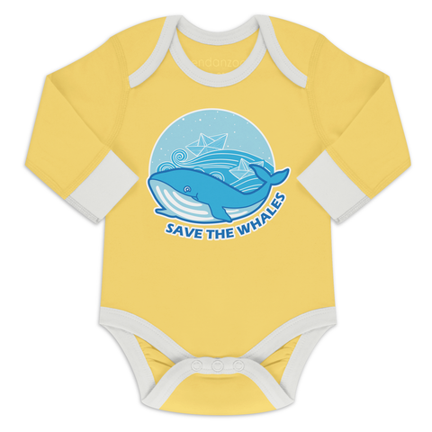 Organic Long Sleeve Onesie - Save The Whales