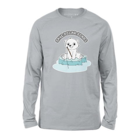 Organic Long Sleeve Kids Tee Shirt - Ben On Sea Ice