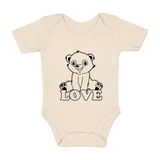 Organic Short Sleeve Bodysuit - Love Polar Bear