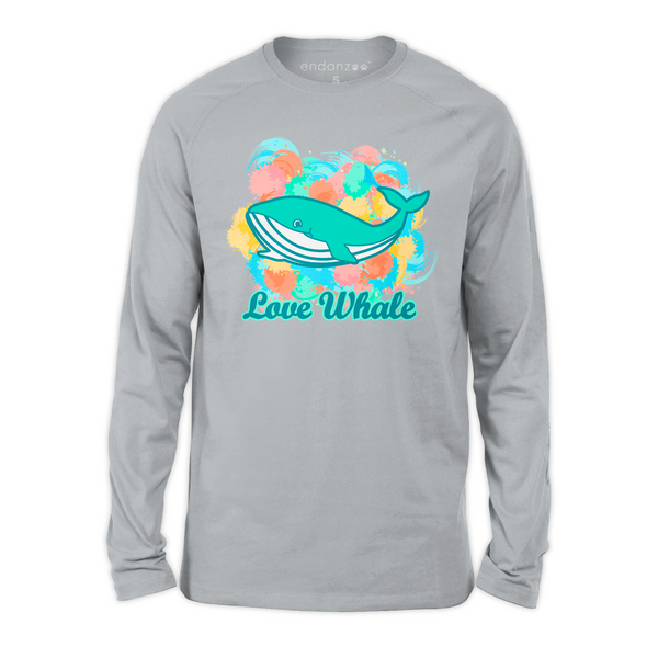 Organic Long Sleeve Kids Tee Shirt - Colorful Whale