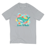 Organic Short Sleeve Kids Tee Shirt - Colorful Whale