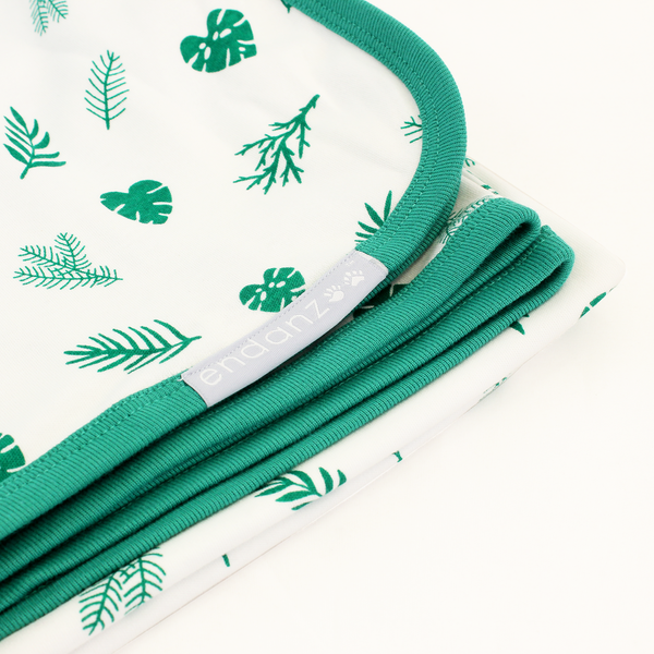Endanzoo Organic Baby Swaddle Blanket - Tropical Rainforest