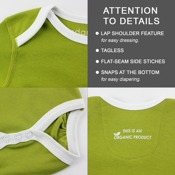 Organic Long Sleeve Bodysuit - Whale Courage