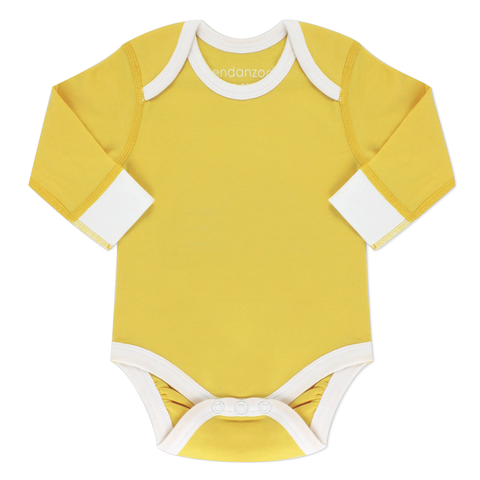 Organic Long Sleeve Onesie - Yellow